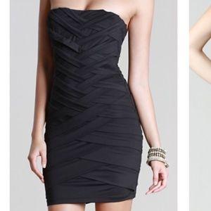 Black Nikibiki crisscrossing dress
